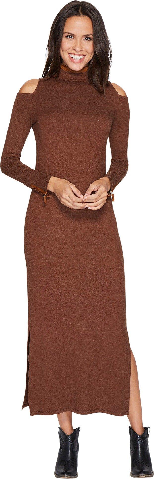 Tasha Polizzi Women's Statement Dress Lt Brown Large by Tasha Polizzi