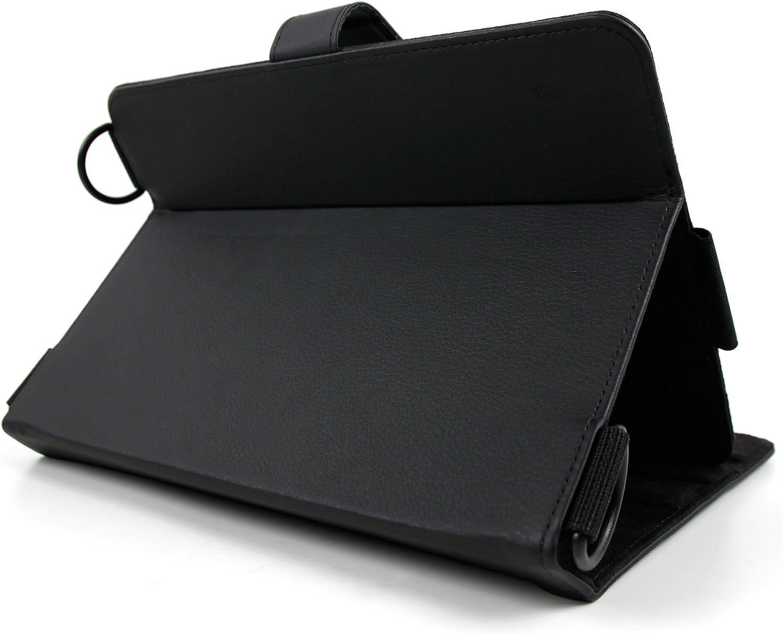 Stand et Strap de Maintien bandouli/ère de Transport Stylet 2 en 1 Noir Bonus DURAGADGET Etui en Cuir Noir 3 en 1 pour tablettes tactiles 9 /à 10 Pouces