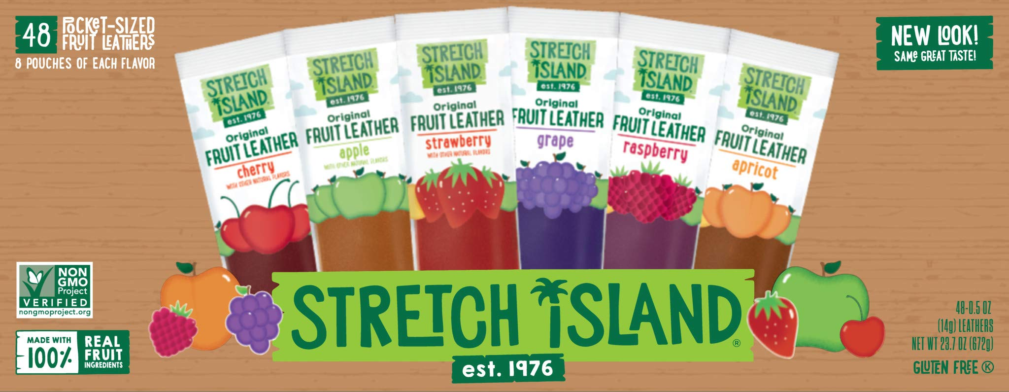 Stretch Island Fruit Leather Snacks Variety Pack, 0.5 Ounce, Pack of 48 by Stretch Island