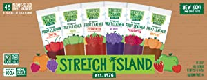 Stretch Island Fruit Leather Snacks Variety Pack, 0.5 Ounce, Pack of 48