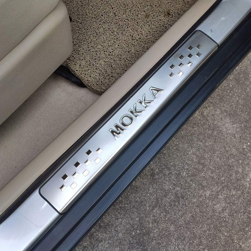 Stainless Steel Trim Scuff Pedal Threshold Cover Protection Trim Accessories HYNB 4 Pcs Car Door Sill Protector For Opel Vauxhall Mokka 2013 2019