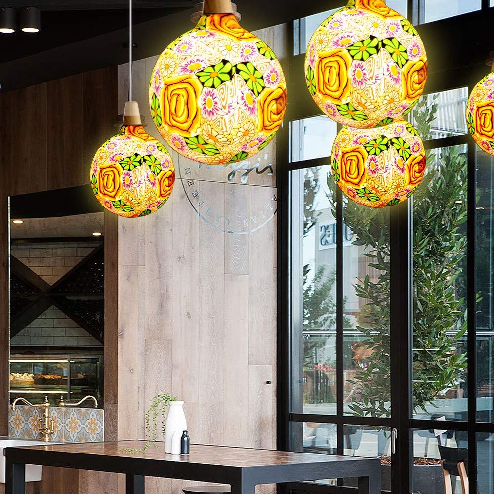 220V E27 Grand LED Edison Ampoule Nouveaut/é Vacances Salon D/écoration Navidad No/ël D/écor /À La Maison Lumi/ères Warm White 2700K 4W /Équivalent 25W /φ 125mm Hobaca/® Fleurs En Verre G125
