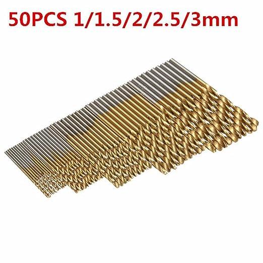 6 opinioni per Mohoo 50PCS Strumenti 1 / 1,5 / 2 / 2,5 / 3 millimetri HSS Shank Drill Bit Set