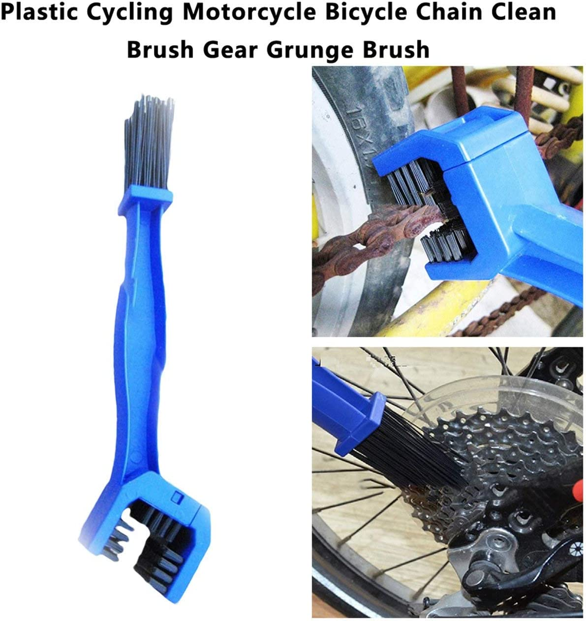 Jasnyfall Blue Plastic Cycling Motorcycle Bicycle Chain Clean Brush Gear Grunge Brush Cleaner Outdoor Cleaner Scrubber Tool