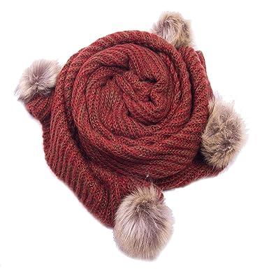 28b1176bff47 Vincenza - Ensemble bonnet, écharpe et gants - Femme - rouge - Taille unique