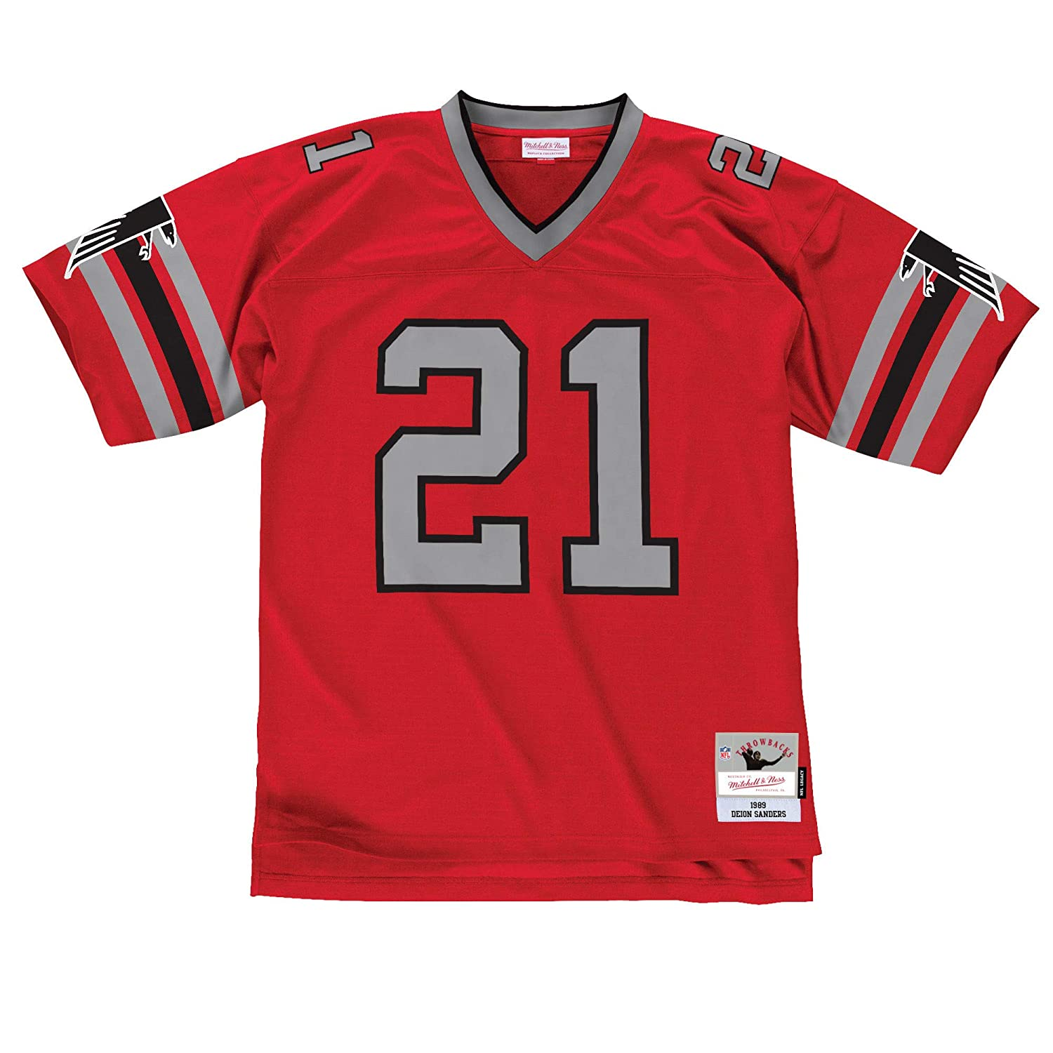 buy online fa26a 91c56 Mitchell & Ness Deion Sanders Atlanta Falcons Red Throwback Jersey