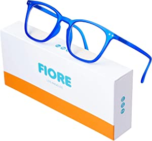 Blue Light Blocking Glasses for Men and Women | Reading and Gaming Computer Glasses with Anti-Glare Light Protection (Royal Blue)
