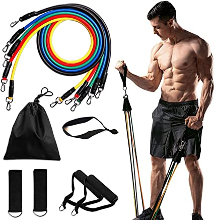 11//13pcs Resistance Bands Elastic Yoga Strap Home Gym Training Fitness Exercise