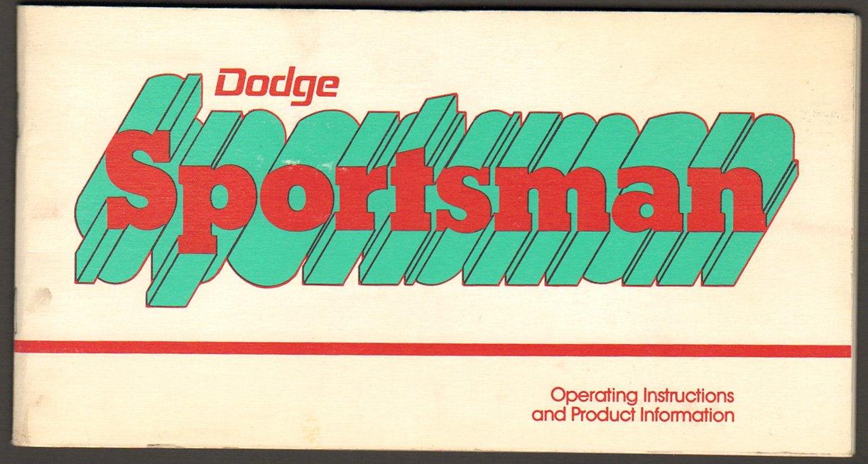 Dodge Sportsman Van 1977 Owners Manual: Chrysler Corp