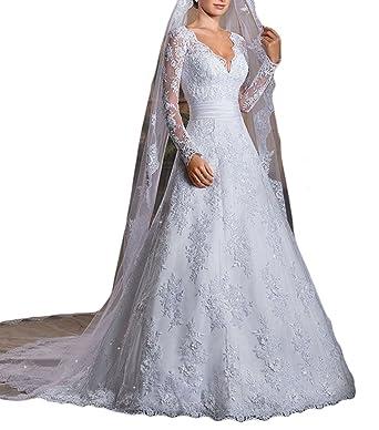 Mr.ace Homme Vintage Inspired vestidos de novia Long Sleeve Sheer Lace Bridal Wedding Dresses