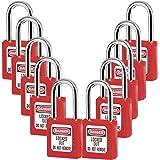 Lockout Tagout Locks, Safety Padlock,Red 10PCS