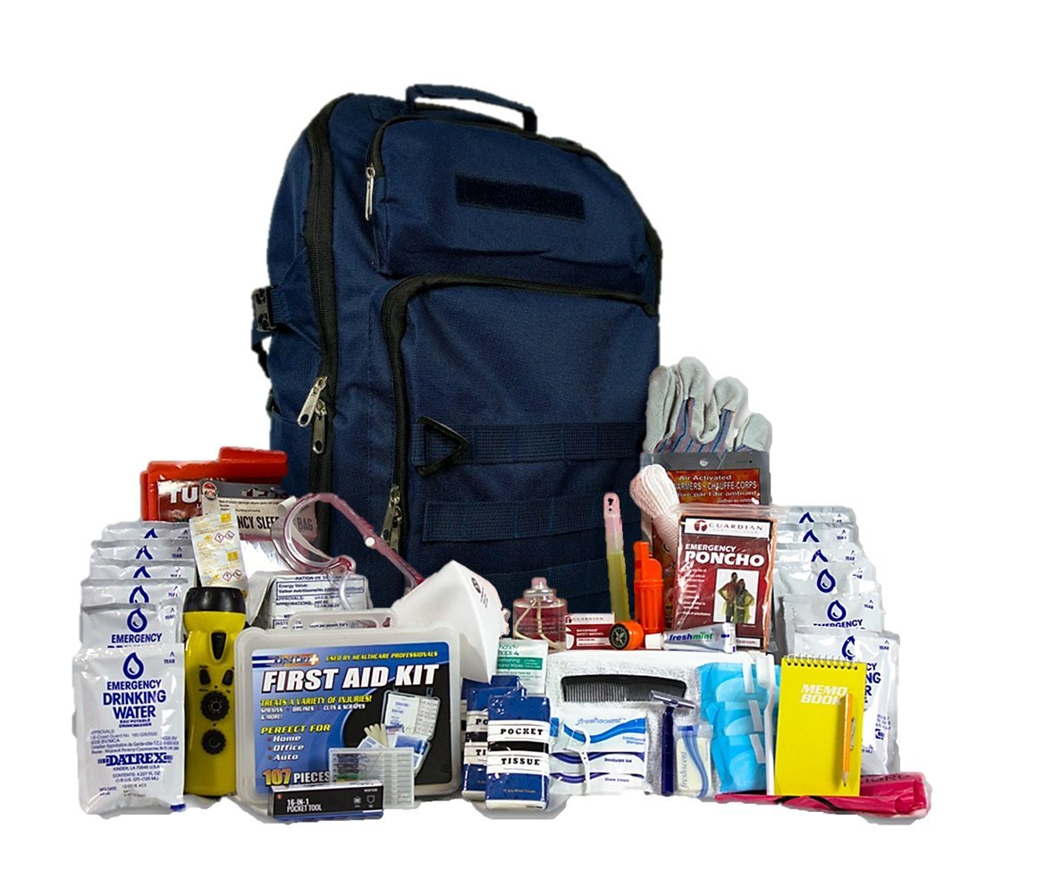 Complete 72 Hour Survival Kit- Most Popular Bug Out Bag for 2 People (Emergency Food, Water, First-Aid, Shelter, Hand-Crank Phone Charger)