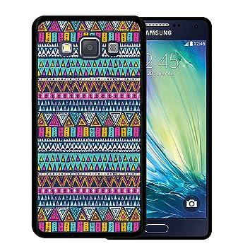 WoowCase Funda para Samsung Galaxy A5 2015, [Samsung Galaxy A5 2015 ] Silicona Gel Flexible Azteca Tribu, Carcasa Case TPU Silicona - Negra