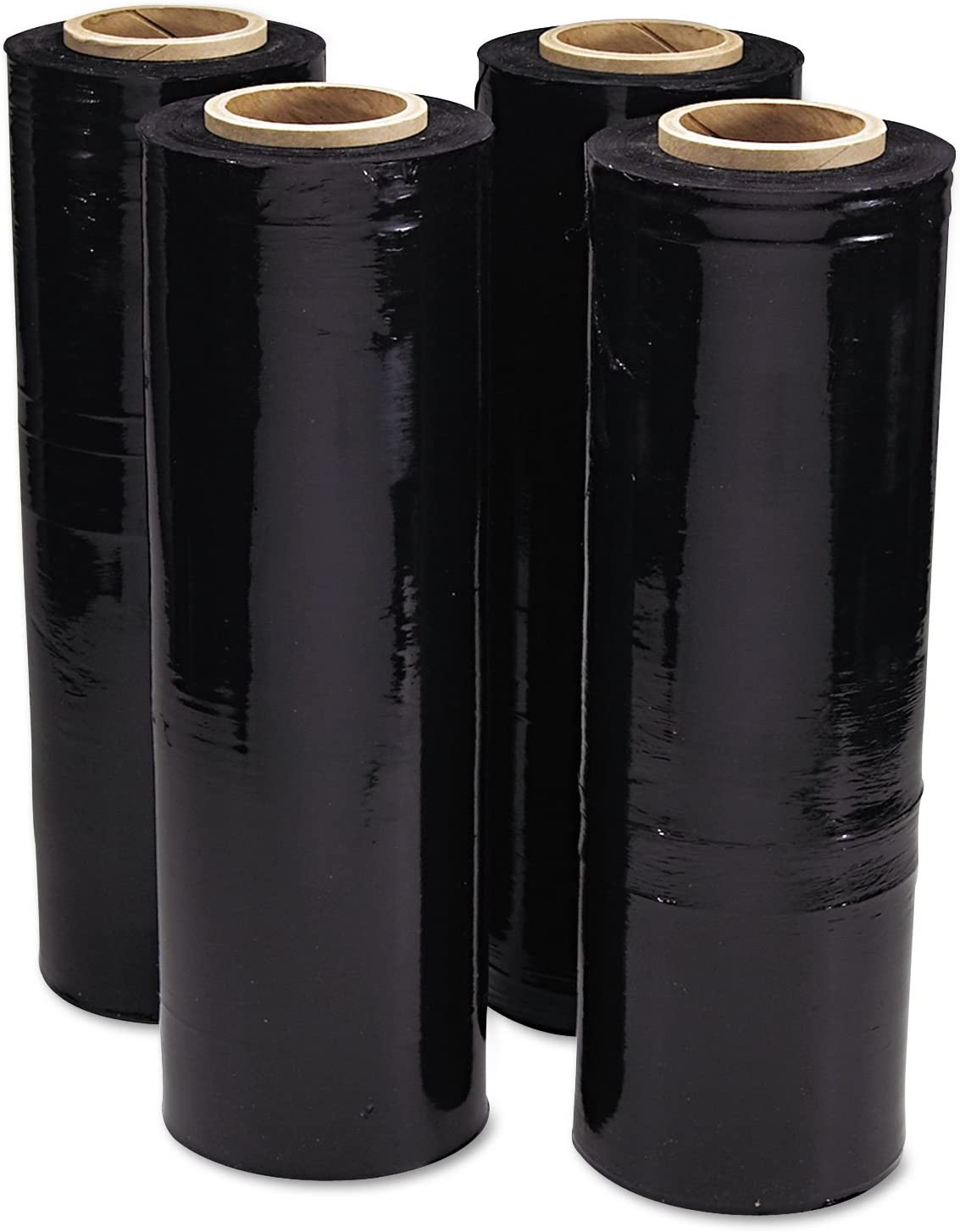 1 handle offered Lot of 10 rolls black stretch film 23 µ 10 x 150