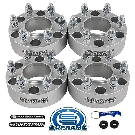 Supreme Suspensions 4pc 15 Hub Centric Wheel Spacers For 2004 2014 Ford F150 2wd 4wd 6x135mm Bp With M14x2 Studs 87mm Center Bore Wlip Silver