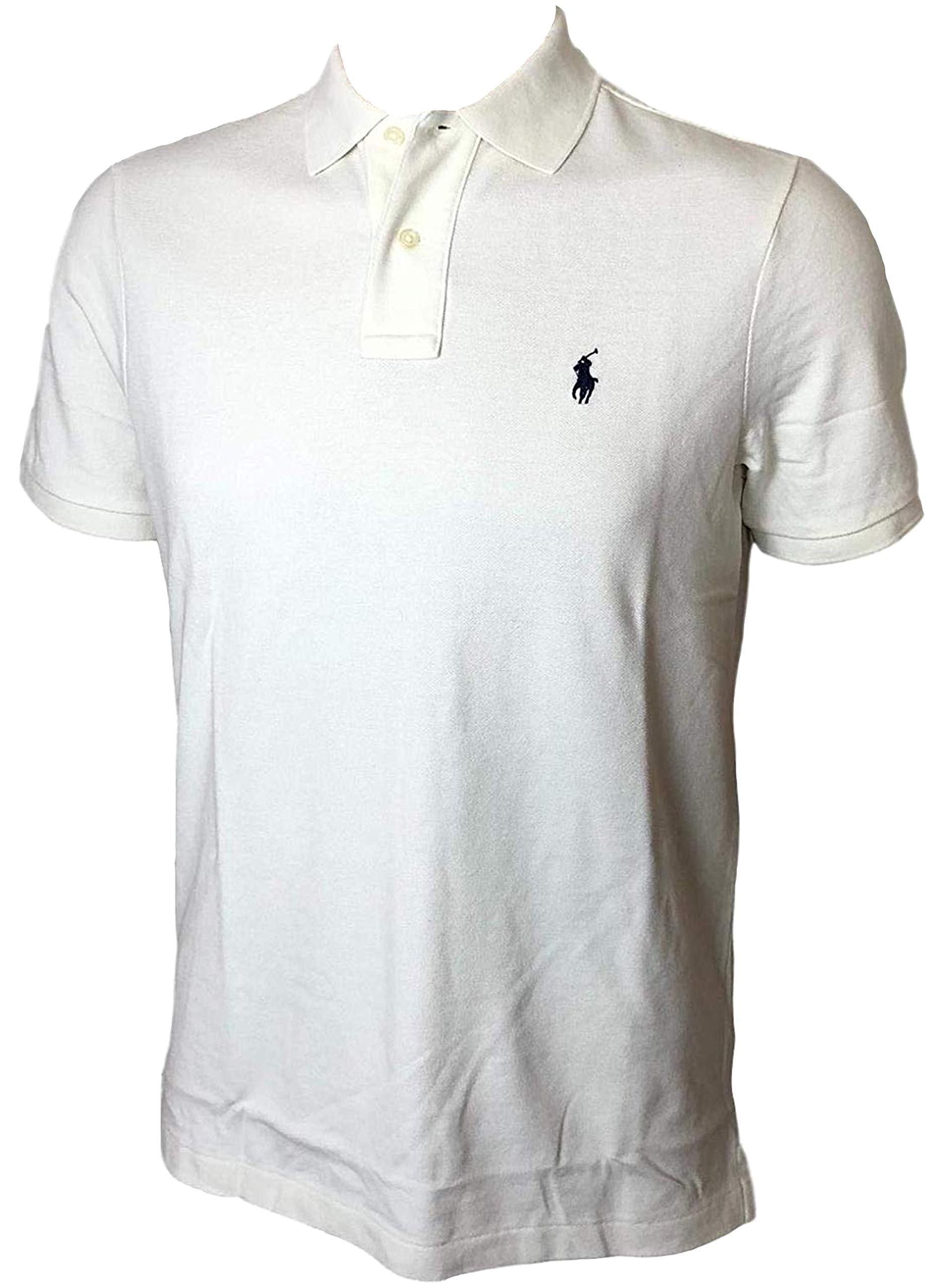 Polo Ralph Lauren Classic Fit Mesh Pony Logo Polo Shirt (S, ChicCream)