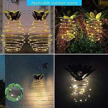 Solar Garden Lights, Leegoal Pineapple Solar Lights Hanging Fairy Lights  Waterproof LED Solar Path Lights For ...