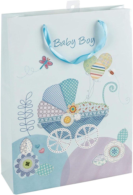 Idena 30209 - Bolsa de Regalo para recién Nacido, Color Azul