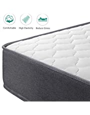 Yaheetech 4ft6 Double Mattress Breathable Foam 9-Zone Pocket Sprung Mattress Double with Breathable Knitting Fabric Medium Firm Orthopaedic Mattress