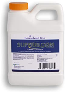 SuperBloom Concentrate Foliar Fertilizer and Systemic Plant Nutrition on Fruits Trees and ornamentals Plants. 16 Oz.