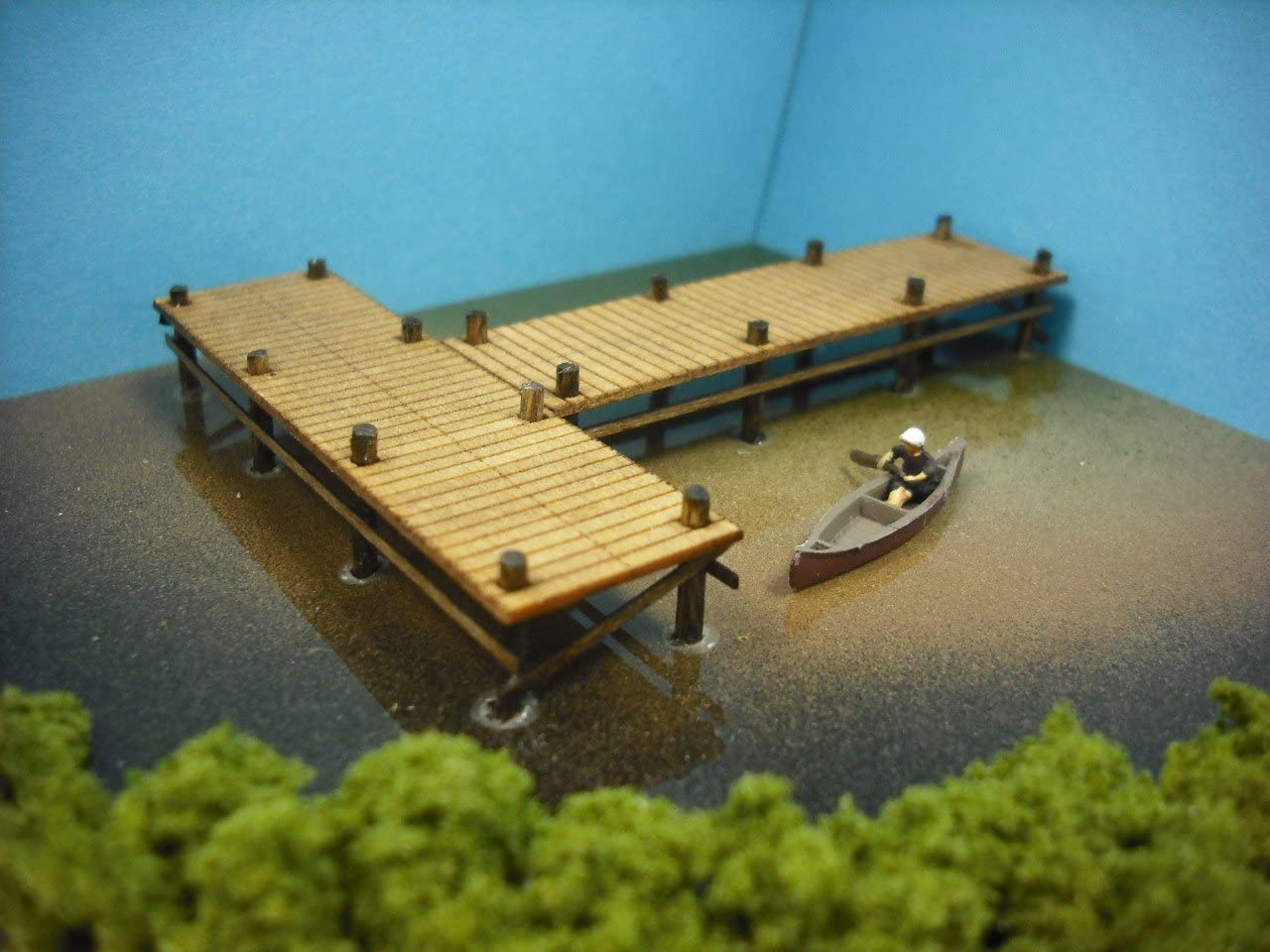 N scale Railway Layout Boat /& Wharf Dock miniatures model
