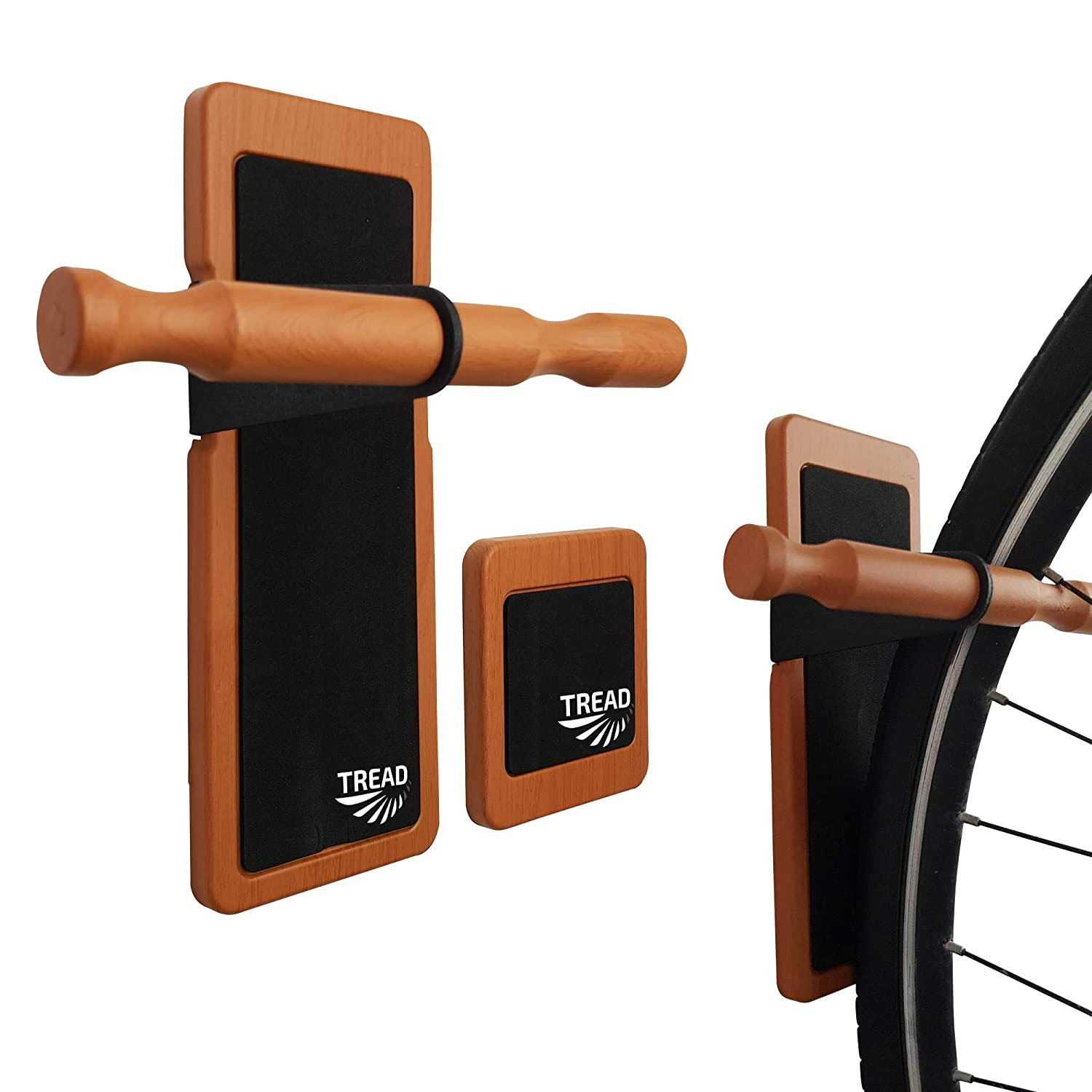 TREAD CO Bike Wall Mount Multi-Functional Vertical Bike Hanger Save Space /& Mount Your Bicycle On Your Walls in Your Shed and Garage