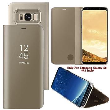 Guran® Mirror Efecto Espejo Funda para Samsung Galaxy S8 Clear ...
