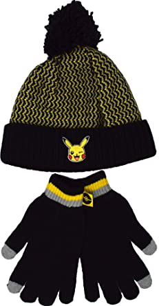 Pokemon Pikachu Winter Hat and Gloves Set  Amazon.co.uk  Clothing 59018b1804c