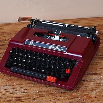 Máquina de escribir de Época de estilo Vintage Retro Rojo años 80 Normal uso Portátil: Amazon.es: Hogar
