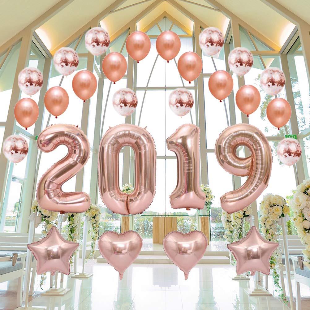 Decoración Para Fiestas 28pcs Set De Globos De Año Nuevo