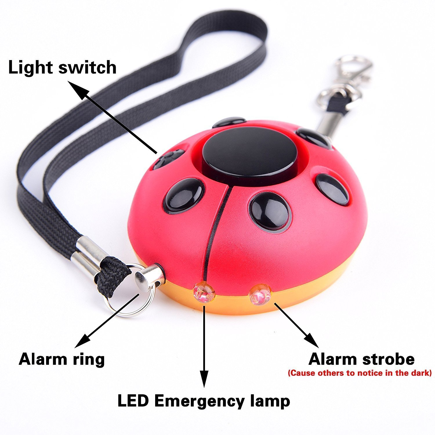 Emergency Personal Alarm New Keychain/The Wolf Alarm/Elderly/Kids Tracker, Safety/Attack/Protection/Panic/Self Defense Electronic Device, Good for Who Work at Night, As A Bag Decoration, 130 DB 7PRODUCTGROUP A-02