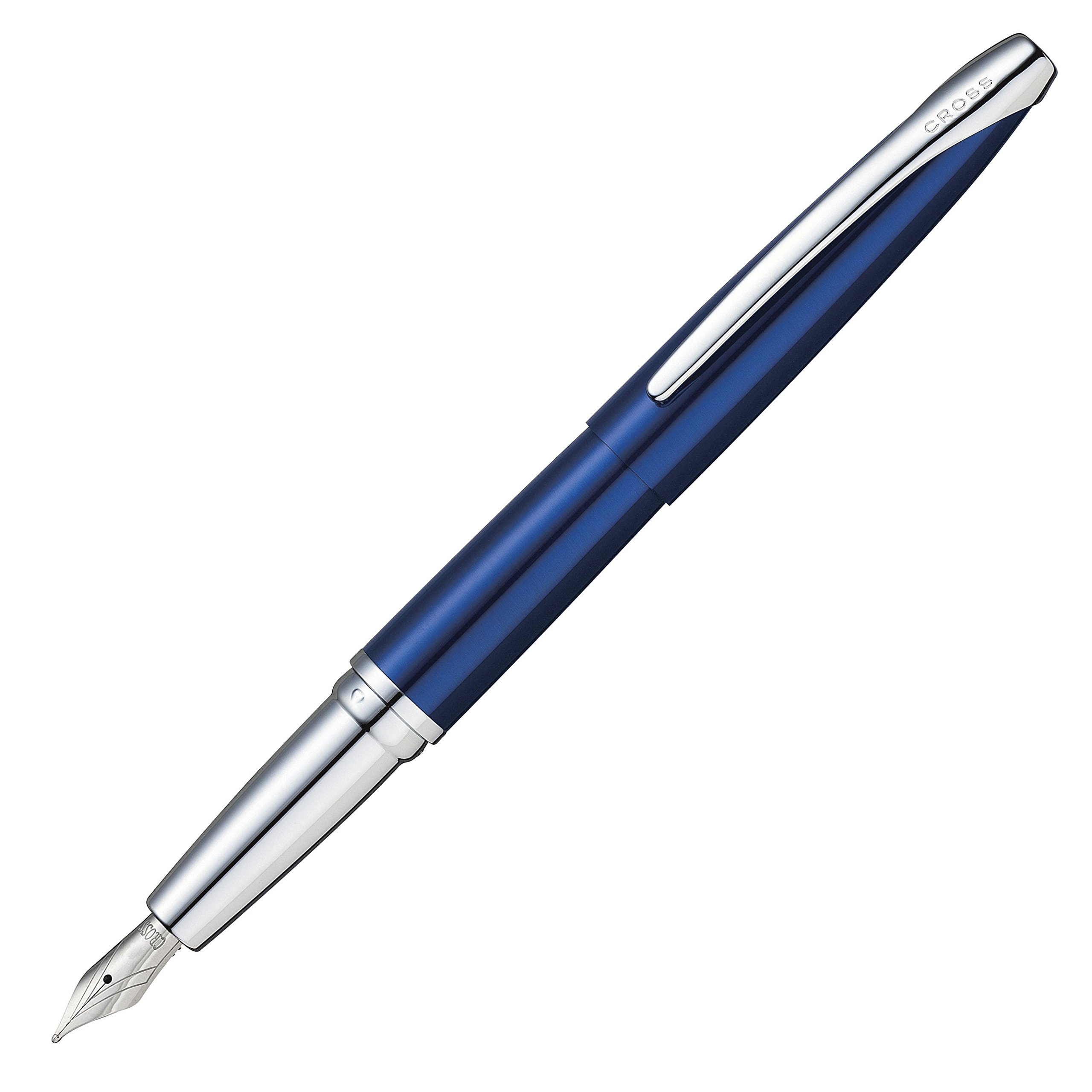 Cross ATX Translucent Blue Fountain Pen with Stainless Steel