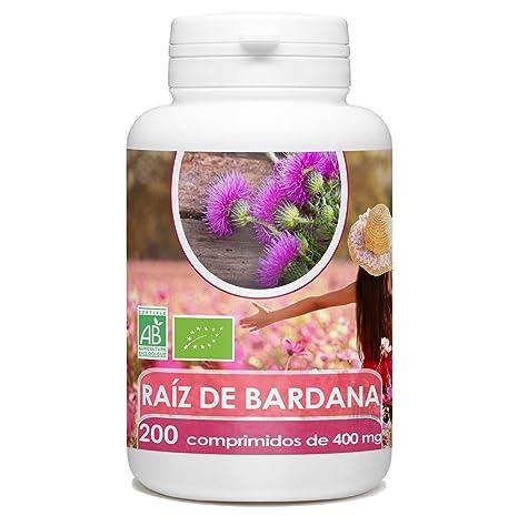 Raiz de Bardana Organica - 200 tabletas 400 mg