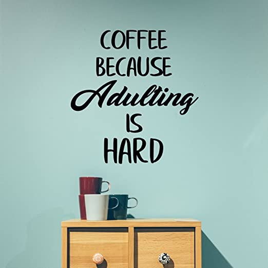 Without Coffee Kitchen Funny vinyl wall decal quote sticker decor Inspirational