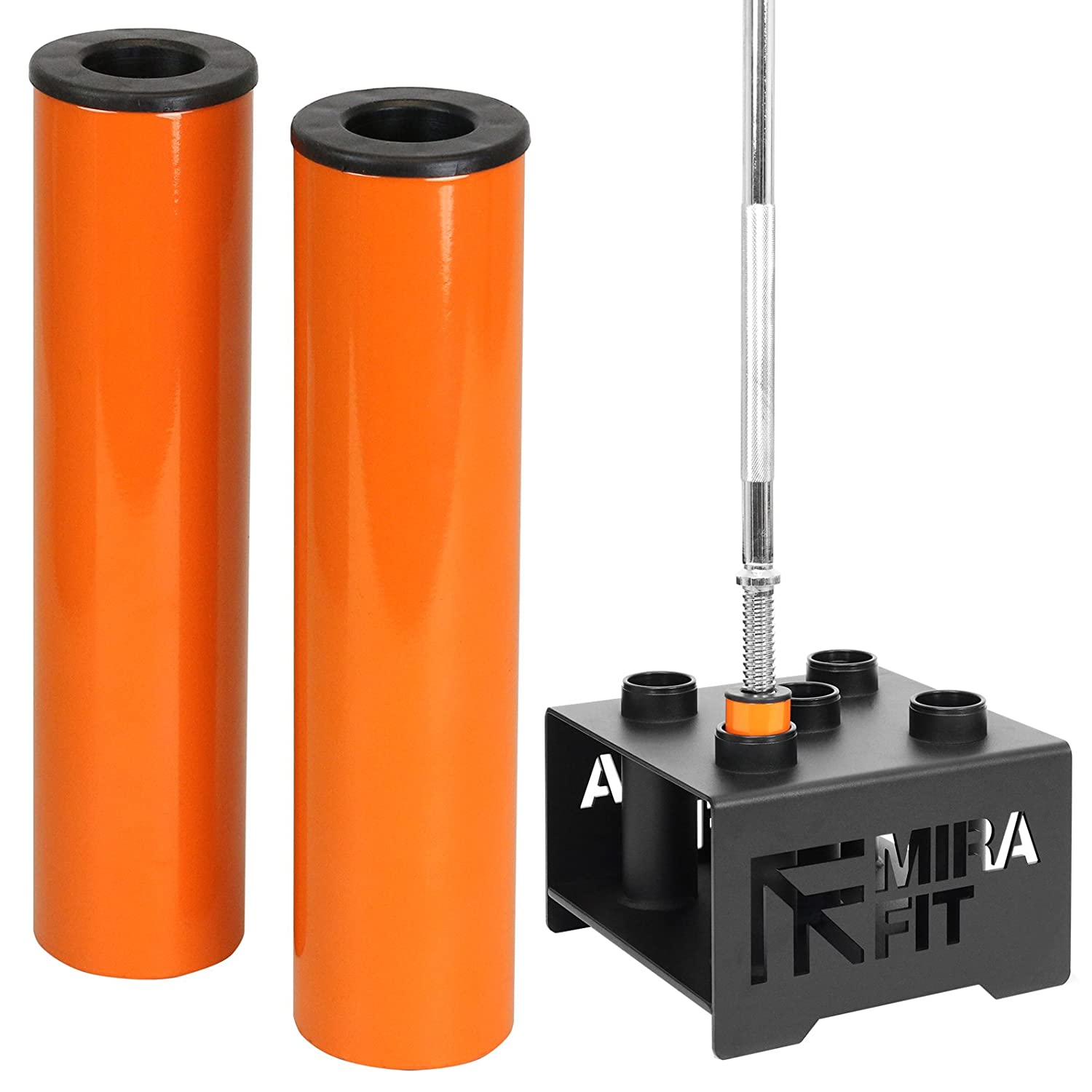 Mirafit Olympic to Standard Size Bar Stand Adaptors - Set of 2