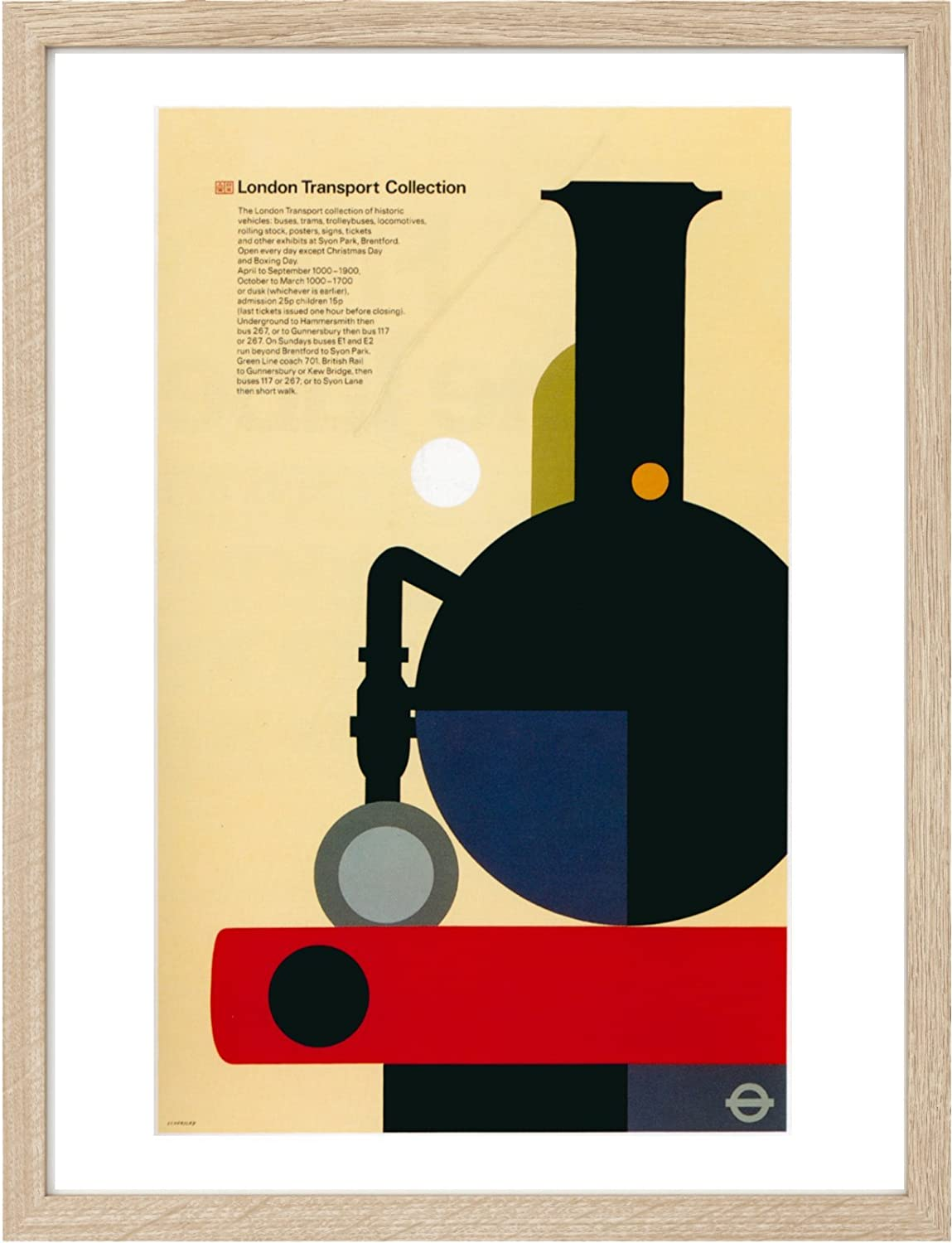 Amazon.de: Vintage Travel Poster gerahmt A3 2352 Grafikkarte und ...