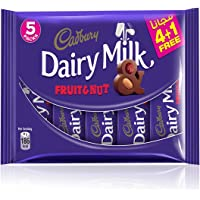 Cadbury Dairy Milk Fruit & Nut - 37 gm (Pack of 5)