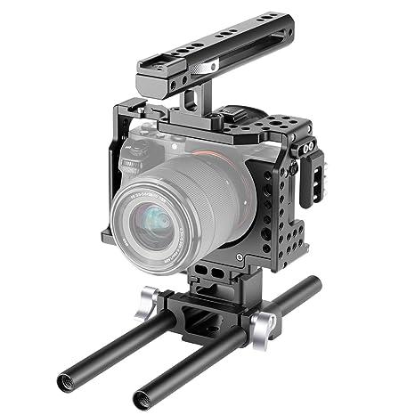 Neewer Cámara Video Jaula Rig Compatible con Cámara Sony A7RIII ...