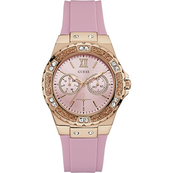 Amazon.com: Guess Womens Iconic U1053L3 Rose-Gold Silicone Japanese Quartz Fashion Watch: Guess: Watches