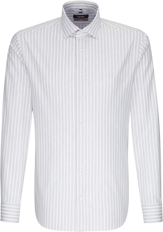 Seidensticker - Camisa de Negocios, para Hombre, de Manga Larga, fácil de Planchar: Amazon.es: Ropa y accesorios