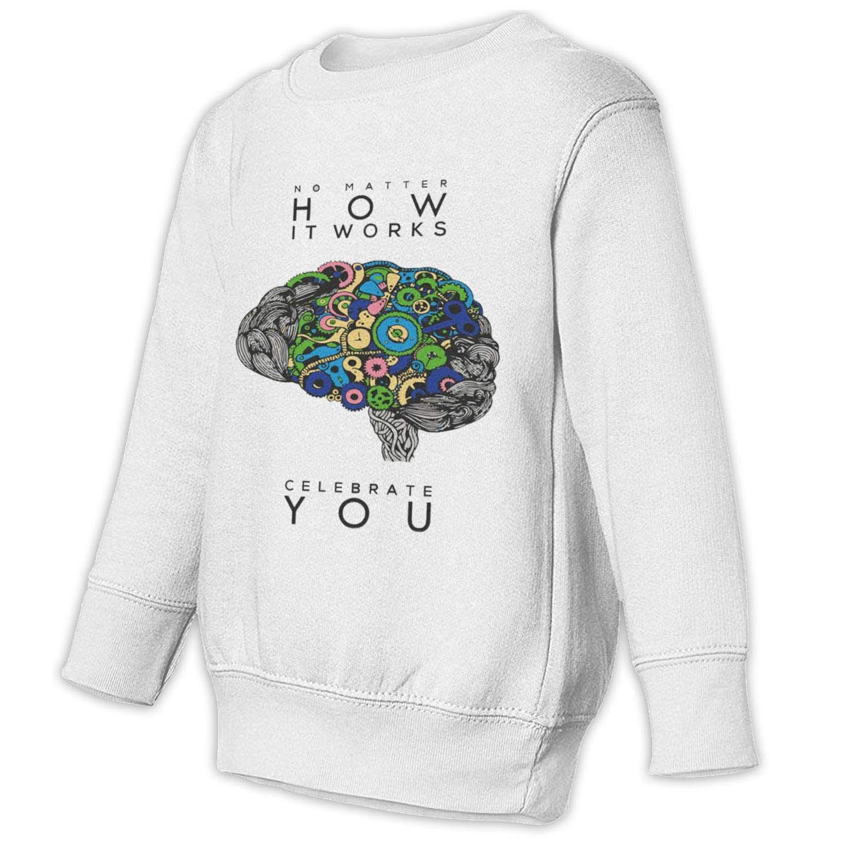Yuliang NO MATTER HOW IT WORKS CELEBRATE YOU Children Fashion Sweater White