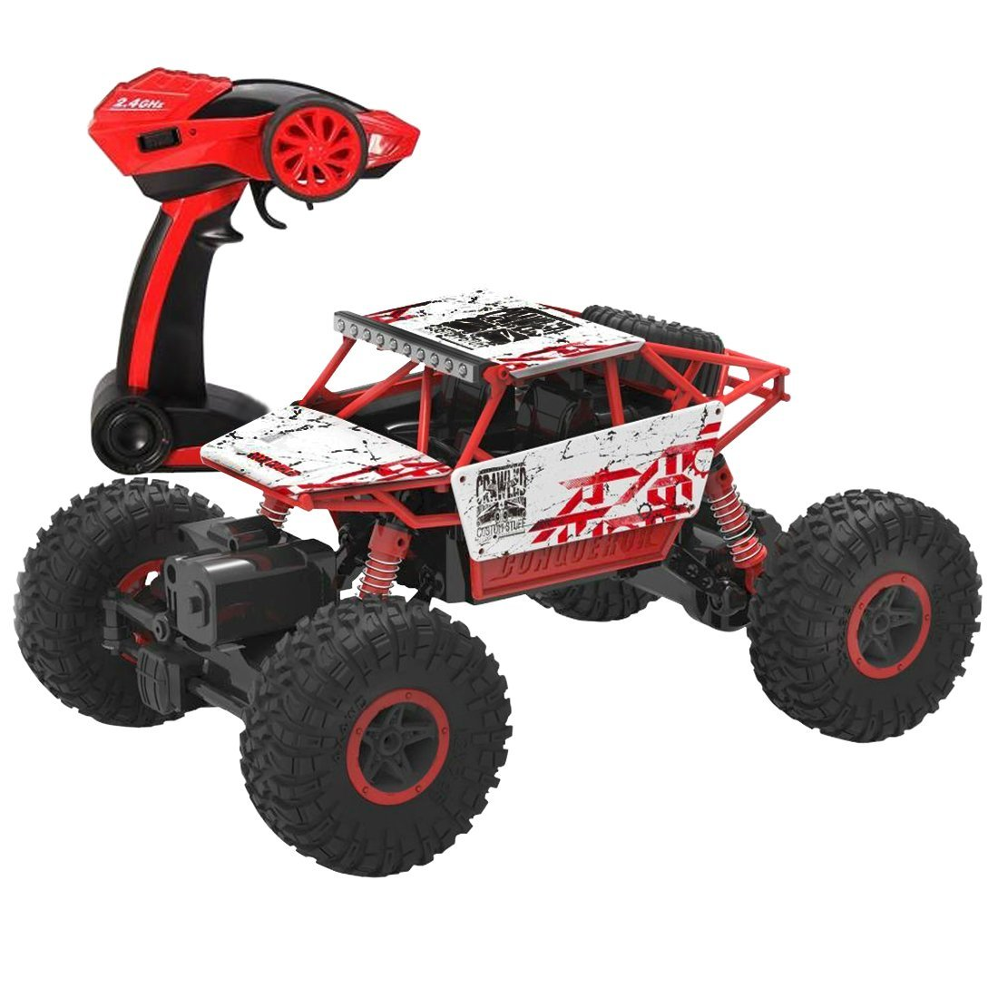 deAO 6 Kanal Fernbedienung Rock Crawler 1:18 Maßstab Off Road Car Rally Buggy (GRÜN) deAO Ltd RK-G