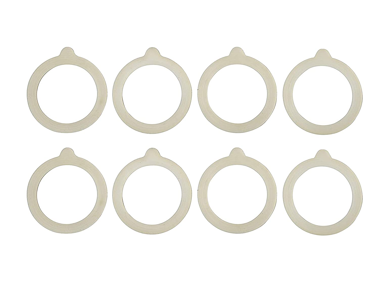 HIC Silicone Replacement Gasket Seals, Fits Regular Mouth Canning Jars, 3.75 x 3.75-Inches, Set of 8
