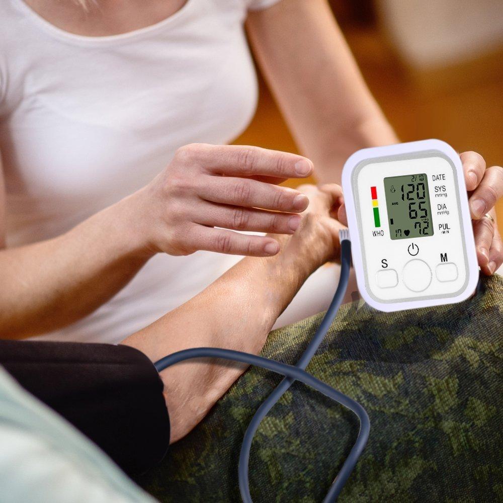 Medidor electrónico de presión arterial esfigmomanómetro aneroide Tensiómetro de brazo con función de memoria CW197: Amazon.es: Bebé