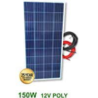 VIASOLAR Panel Solar fotovoltaico 150W 12V Cable 5m