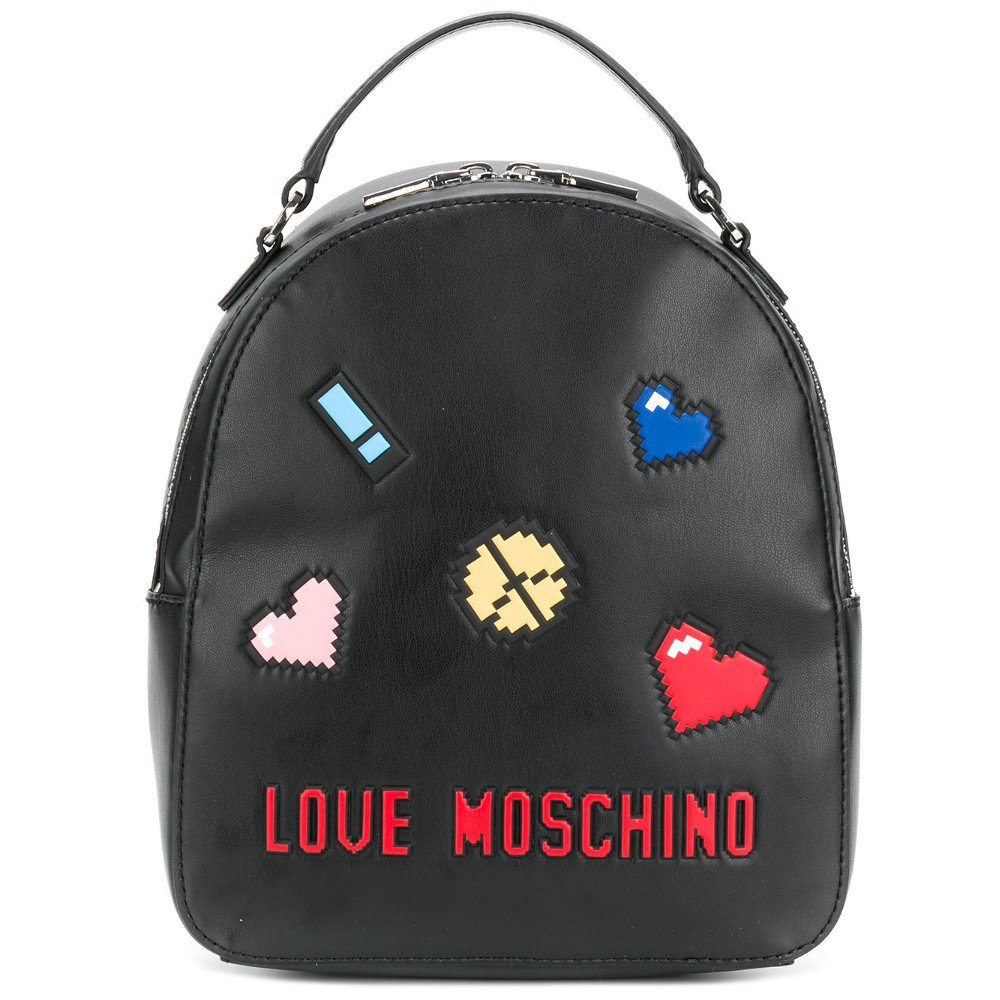 LOVE MOSCHINO Pixel Love Backpack, Black by MOSCHINO