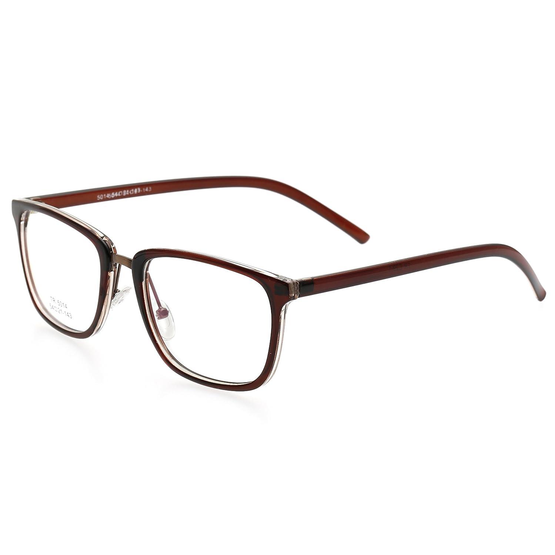 Simvey Strong Square Nerd Glasses Frames Clear Lens Prescription Eyeglasses TR90 5014