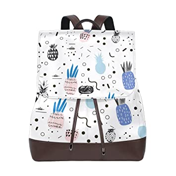 d30eaedd4a72 Lightweight Backpack, Pineapple Print Large Capacity Laptop Backpack ...
