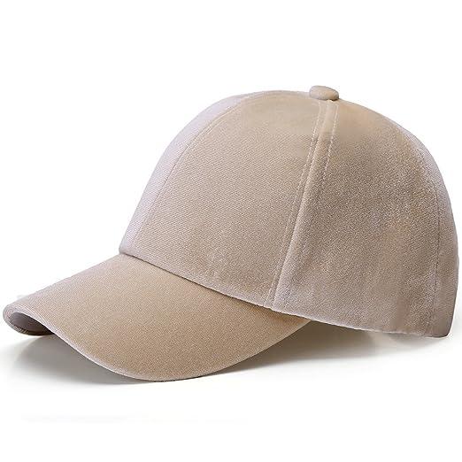 8c6e3beaf069e JOOWEN Unisex Adjustable Soft Shining Basketball Caps Velvet Hat (Beige)