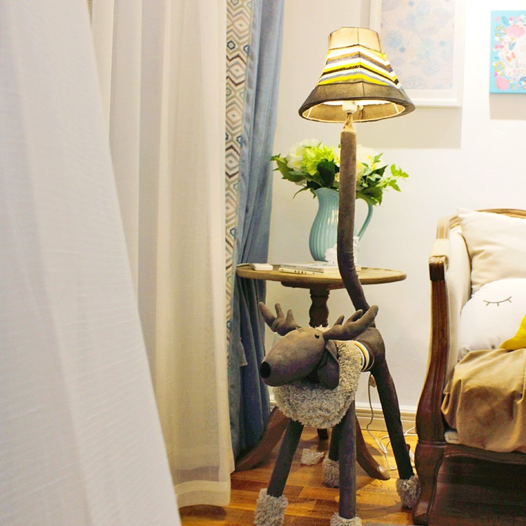 Edge To Animal Floor Lamp Plush Deer Floor Lamp Living Room Bedroom Children Table Lamp Children's Room Floor Lamp